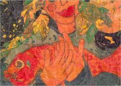 Patricia Wallace Jones: Sea woman on foil
